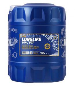 20 Liter MANNOL 5W-30 LONGLIFE 504/507 BMW Longlife-04 MB 229.51 Porsche C30 VW 504 00 VW 507 00