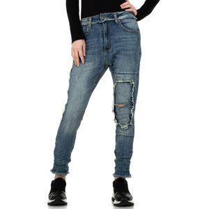 Ital-Design Damen Jeans Boyfriend Jeans Blau Gr.34