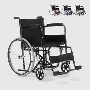 Rollstuhl Klappbarer Orthopädischer Oxford Stoff Behinderte und Ältere Menschen LilyFarbe: Schwarz