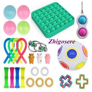 26 Stück / Set POP IT! Sensory Fidget Toys Set für Stressabbau Timer Autistic Stressabbau Spielzeug