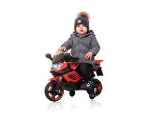 Kindermotorrad Polizeimotorrad Elektro Motorrad 6V / 4,5 Ah Soundeffekte Rot