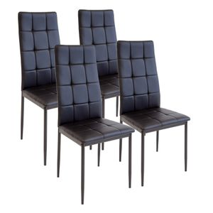 Esszimmerstühle RIMINI, 4-er SET, Schwarz