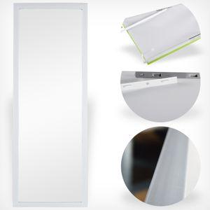 Wand- und Tür Spiegel Wandspiegel Türspiegel Hängespiegel Rahmenspiegel Garderobenspiegel White