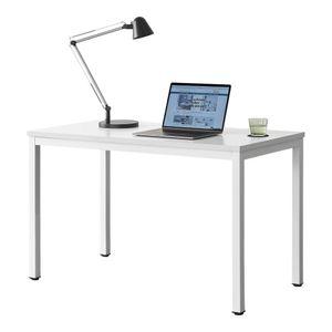 [en.casa] Schreibtisch Odense Weiß Höhenverstellbar Bürotisch 75x120x60cm Tisch Computertisch Arbeitstisch PC Tisch
