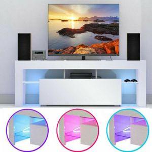 TV Schrank Lowboard Fernsehtisch 130 x 35 x 45 cm Unterschrank Sideboard mit LED Fernsehschrank Hochglanz DHL