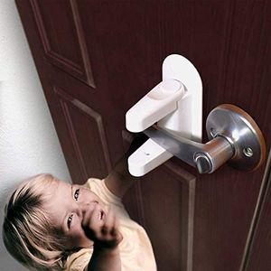 Türhebelschloss (2er Pack) Kindersichere Türen und Griffe 3M Klebstoff