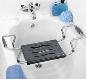 Badewannen-Sitz Dusch-Hocker Bad Dusche Secura Silber