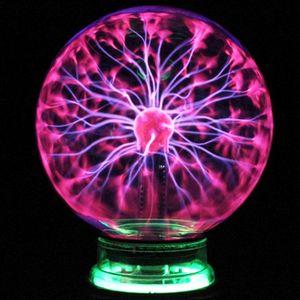 Magic Crystal Lamp Seltsame 4-Zoll-Plasmakugel EU-Stecker Lightning Music Home Decor