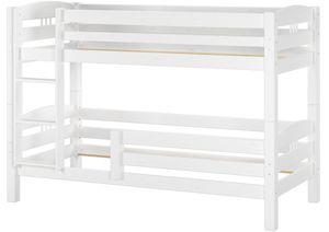 Kinderstockbett Etagenbett Kiefer massiv weiß 90x200 cm Hohes Bett Fallschutz 60.10-09WoRF