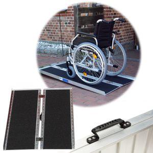 TrutzHolm® Rollstuhlrampe 152cm 272kg klappbar Alu Friktionsbeschichtung