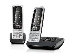 Gigaset C430A DUO Strahlungsarmes Schnurlostelefon mit Anrufbeantworter, Farbdisplay, Rufnummernanzeige, 14h Sprechzeit, 13 Tage Standby, Freisprechfunktion, Babyfon-Funktion, DECT