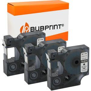 Bubprint 3 Schriftbänder kompatibel für Dymo 45010 Black auf Transparent 12mm x 7m Dymo Labelmanager 350 Series Labelpoint 250