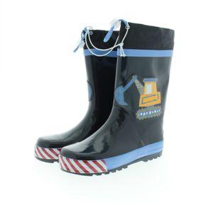 Playshoes regenstiefel Bouwplaats marineblau