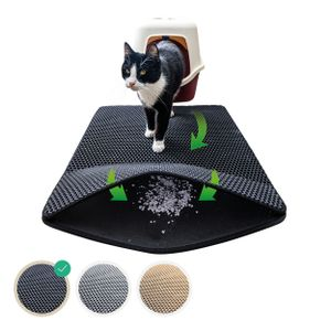 Katzenstreu Matte für die Katzentoilette – der L:45*60cm Streufang Vorleger fürs Katzenklo, Katzenklomatte