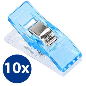 10x Stoffklammern Nähklammern Nähclips WonderClips Nähzubehör in Blau