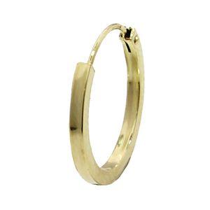 EINZEL 585 gelb Gold CREOLE Ohrring Ohrschmuck flach Goldohrring 16mm 1845