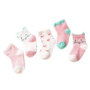 Unisex - 5 Paar Baby Socken Erstlingssöckchen 0-1T Orange