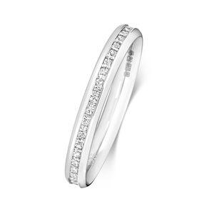 Platin 950 2,7mm Damen - Diamant Trauring/Ehering/Hochzeitsring Prinzessschliff 0.78 Karat H - VS2, 55 (17.5); WJS2087PT950