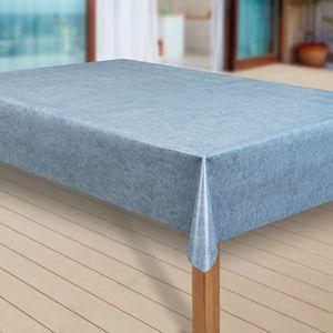 Wachstuch-Tischdecke Wachstischdecke Tischwäsche Abwaschbar Wachstuchdecke, Muster:Uni blau meliert, Größe:100x100 cm