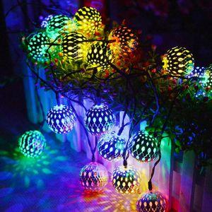 20LEDs 5M marokkanische Kugel Solar Lichterketten Fairy Globe wasserdichte Laterne Nachbildung Für Weihnachtsdekoration
