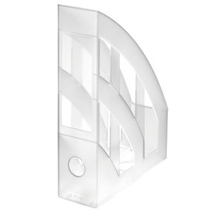 Herlitz Stehsammler / Plastik Stehordner / Farbe: transparent matt