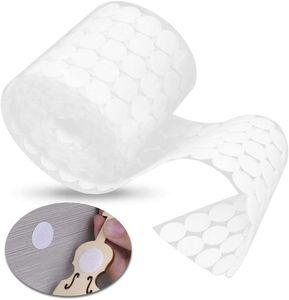 Klett Klebe Punkte, Klettpunkte 1000 Stück Klett Punkte 500 Paar Schlaufe Punkte Self Adhesive Klebend Klettverschluss, 20 mm (Weiß)