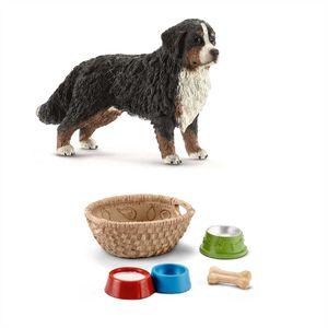 Schleich - 16397 Berner Sennenhündin + 42293 Futter für Hunde & Katzen
