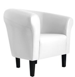 """Sessel Clubsessel Loungesessel Cocktailsessel  """"Monaco 2"""" Weiss W364 01"""