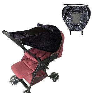 Sonnensegel Kinderwagen mit UV Schutz 50+ und Wasserdicht, Double Layer Fabric mit Sichtfenster und extra breite Schattenflügel