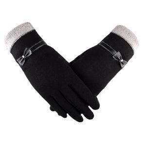 Damenmode Bowknot Winter Warme Handschuhe Ski Windschutz Hände YHM80928555 Größe:Einheitsgröße,Farbe:Schwarz