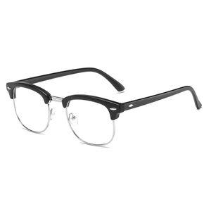 Anti-Blue-Ray-Brille Universal Blue Light Blocking Brille Ermuedungssichere Leichte Augenschutzbrille Schwarz + Silber