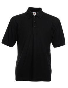 65/35 Piqué Herren Poloshirt - Farbe: Black - Größe: XXL