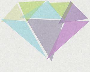 Lars Contzen Tapete Misfit Diamonds, rotlila, reinweiß, lichtgrün, platingrau, hellgrün, 10,05 m x 0,53 m, 956561, 95656-1