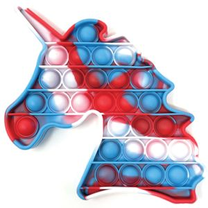 Fidget Toy Bubble Pop it - Antistress Kinder Spielzeug Bunt | Ablenkung bei Stress & Nervosität | Einhorn