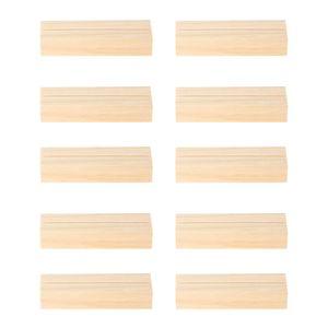 10 stücke Holz Kartenhalter Vintage Holz Kartenhalter Tischnummer Halter Hochzeit Tischkartenhalter Rechteckförmigen Halter
