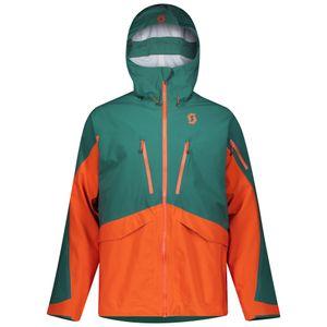 Scott Jacke Herrenjacke Skijacke Vertic DRX 3L jasper green/orange pumpkin XXL