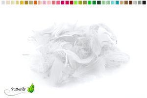 5g Gänsefedern ca. 7-12cm , Farbauswahl:weiß 029