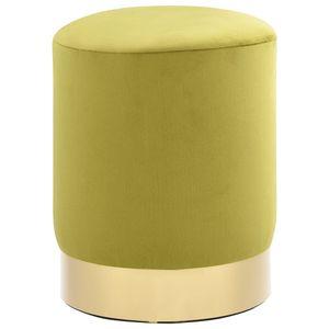dereoir Hocker Senfgrün und Golden Samt