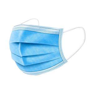 50 Stück Einweg-Gesichtsmaske PSA  Anpassbare Nasenstange 3-lagige Gesichtsschutzmaske Weiche, atmungsaktive Vliesstoff-Gesichtsmaskenschutz 【Nicht medizinisch】