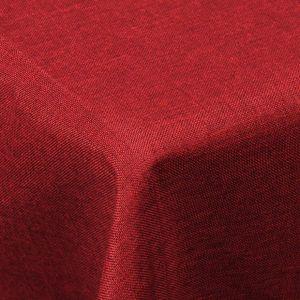 WOLTU TD3043rt Tischdecke Tischtuch Leinendecke Leinen Optik Lotuseffekt Fleckschutz Eckig 130x220 cm Rot