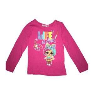 "L.O.L: Surprise!™ T-Shirt ""Life is Ant"" langärmelig, pink mit Glitzer 134"