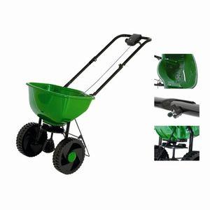Siena Garden SP7402 Streuwagen 15l, Einhand Streumengenkontrolle, schwarz/grün (1 Stück)