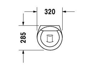 Duravit Urinal Starck 1, Zu und Ablauf verdeckt, ohne Deckel mit Fliege, weiß 835320007, 835320007