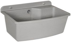 Ausgussbecken Waschtrog Spülbecken 610X440 Granit Weiss Grau Groß Wandausgussbecken : Farbe - Grau