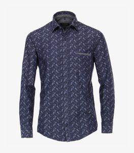 Casa Moda - Casual Fit - Herren Freizeit Hemd mit Muster (493253900A), Größe:M, Farbe:Blau (100)