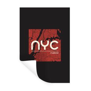 Wandaufkleber - New York - NYC - Zwart - 40x60 cm - Repositionierbar