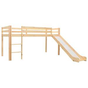 vidaXL Kinderhochbett-Rahmen mit Rutsche & Leiter Kiefernholz 97x208cm