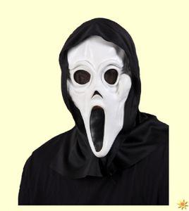 Halloween Maske Phantom mit Kapuze aus Horrorfilm Zubehör Karneval