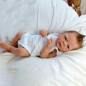 Mädchen reborn Baby Puppe 46cm Lebensecht Handgefertigt Weich Silikon Vinyl Lebensecht