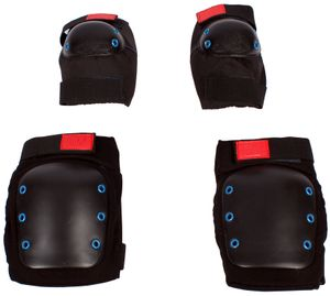 Vortex 4er Set Erwachsenen-Protektoren Größe S Zum Skaten, MTB und BMX